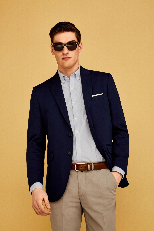 Pedro del Hierro Tailored fit suit blazer Blue 8192480f395