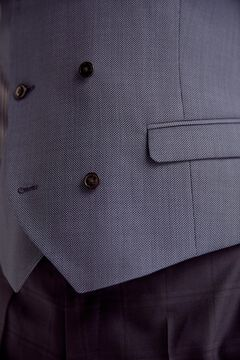 Pedro del Hierro Chaleco ojo perdiz tailored fit Blue