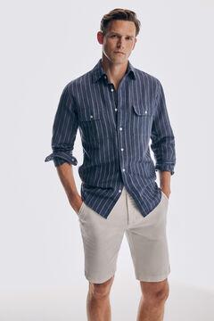 Pedro del Hierro Bermuda chino jeans SUMMER FLEX regular cru Ecru