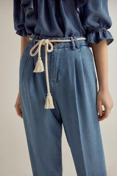 Pedro del Hierro 100% Tencel® pleated jeans Blue