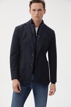 Pedro del Hierro Lined jersey-knit blazer Blue