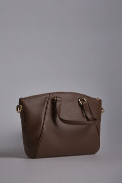 Pedro del Hierro Medium size zipped shopper bag Brown