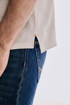 Pedro del Hierro Fantasy short-sleeved polo shirt Ecru