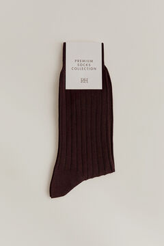 Pedro del Hierro Plain dress socks Brown