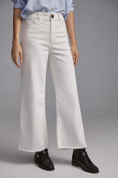 Pedro del Hierro Sustainable palazzo trousers Beige