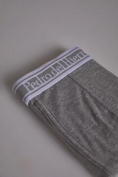 Pedro del Hierro Plain knit boxers Grey