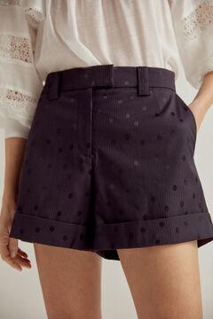 Pedro del Hierro Jacquard shorts Blue
