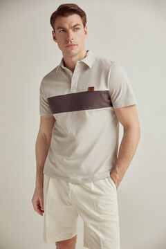 Pedro del Hierro Short-sleeved PdH logo polo shirt White
