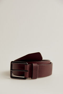 Pedro del Hierro Woven leather belt Red