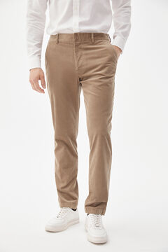 Pedro del Hierro Trousers with comfort waistband Beige