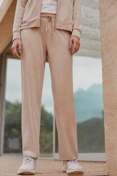 Pedro del Hierro Pantalon cullote de terciopelo Beige