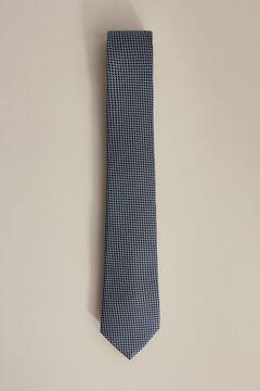 Pedro del Hierro Textured jacquard tie Blue