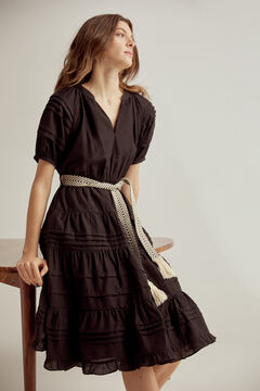 Pedro del Hierro Belted midi dress Black
