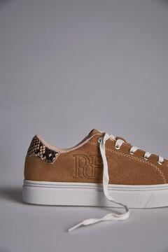 Pedro del Hierro Suede Sneakers Beige