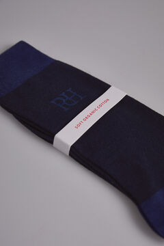 Pedro del Hierro Plain big logo socks Blue
