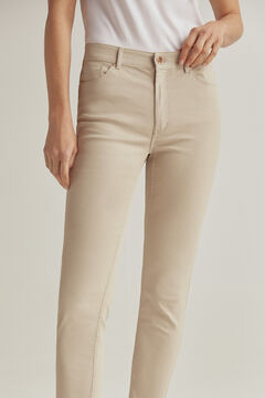 Pedro del Hierro Rubberised push-up trousers Brown