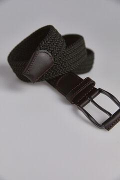Pedro del Hierro Cinturón trenzado textil Verde