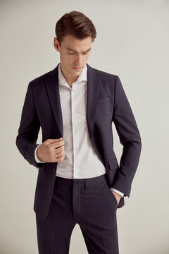 Pedro del Hierro Slim fit bi-stretch blazer Blue