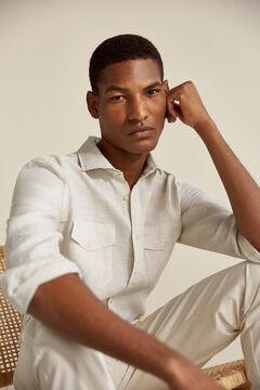 Pedro del Hierro Linen shirt Beige