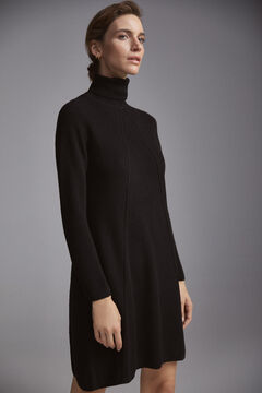 Pedro del Hierro A-line jersey-knit dress Black