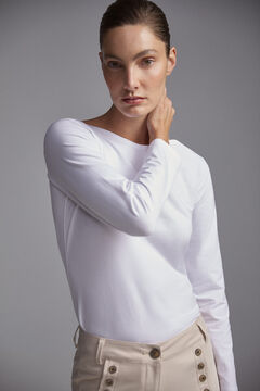 Pedro del Hierro Long-sleeved T-shirt  White