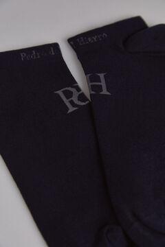 Pedro del Hierro Stripy logo socks Blue