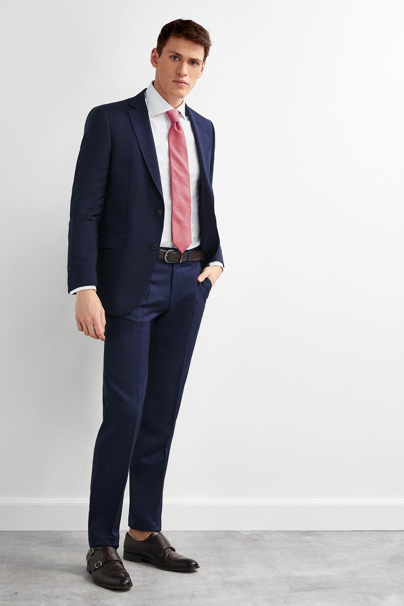 2df6884e7e Pedro del Hierro Pantalón traje marino slim fit Azul