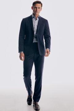 Pedro del Hierro Blue slim fit bi-stretch trousers Blue