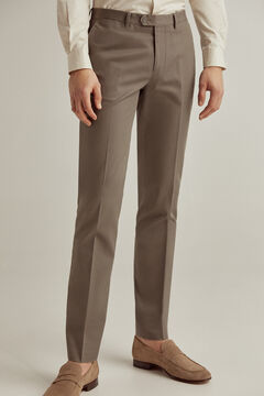 Pedro del Hierro Regular fit easy-iron stain resistant travel trousers Grey