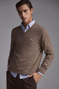 Pedro del Hierro V-neck jumper Brown