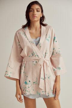 Pedro del Hierro Short printed kimono Pink