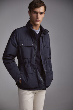 Pedro del Hierro Jacket with four pockets Blue