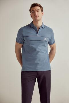 Pedro del Hierro Polo manga corta con logo PdH Azul
