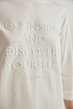 Pedro del Hierro Camiseta manga slogan logo Crudo