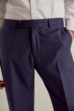 Pedro del Hierro Blue checked tailored trousers Blue