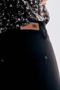 Pedro del Hierro Skinny fit stretch jersey-knit 5-pocket trousers Black