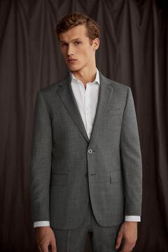 Pedro del Hierro Tailored fit grey blazer Grey