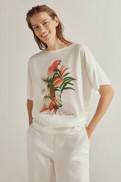 Pedro del Hierro Camiseta estampada Ivory