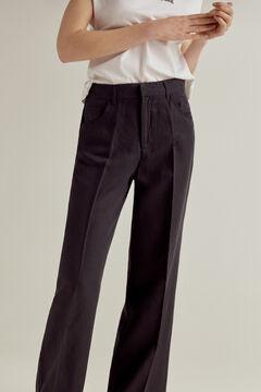 Pedro del Hierro Tencel® linen bootcut trousers Blue
