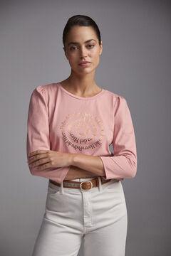 Pedro del Hierro Gold foil logo t-shirt Pink