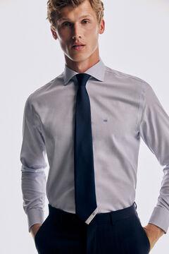 Pedro del Hierro Striped modal/Tencel finish shirt Blue