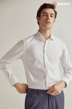 Pedro del Hierro Textured TX Protect shirt White