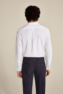 Pedro del Hierro Camisa cuello Mao tailored fit White