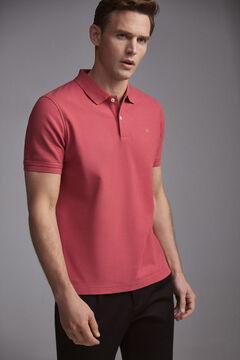 Pedro del Hierro Short-sleeved PdH logo polo shirt Red