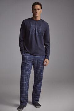 Pedro del Hierro Pijama xadrez Azul