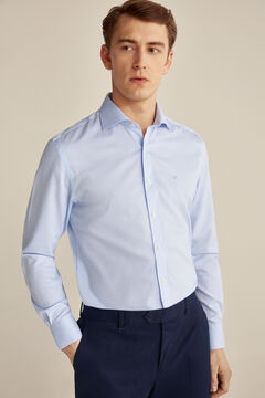 Pedro del Hierro Classic fit striped Tech-Non Iron dress shirt Blue