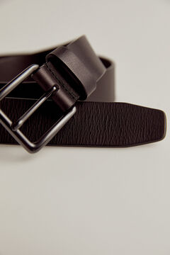 Pedro del Hierro Woven leather belt Black