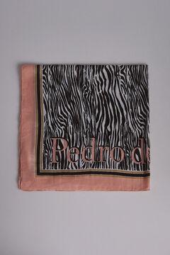Pedro del Hierro Printed logo shawl Black