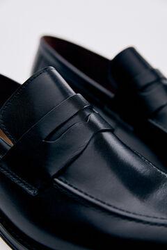 Pedro del Hierro Leather loafer Black