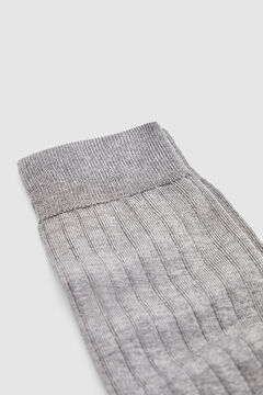 Pedro del Hierro Plain dress socks            Grey